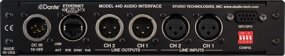 Studio Technologies Model 44D Dante to Analog Audio Interface MODEL-44D
