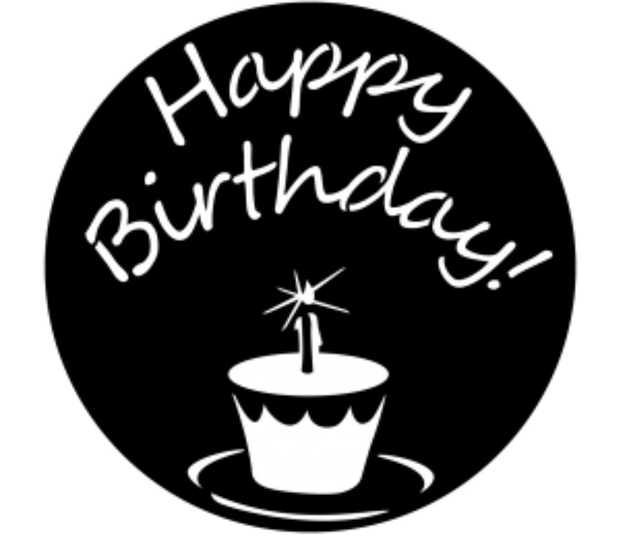 Happy Birthday Steel Gobo