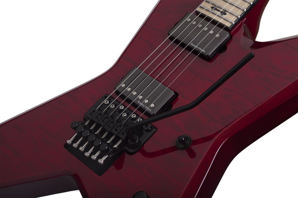 Floyd Rose Solid-Body Electric Guitar, See-Thru Cherry Finish