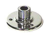 Surface Mount Male Microphone Flange with 5/8'-27 Thread in Chrome