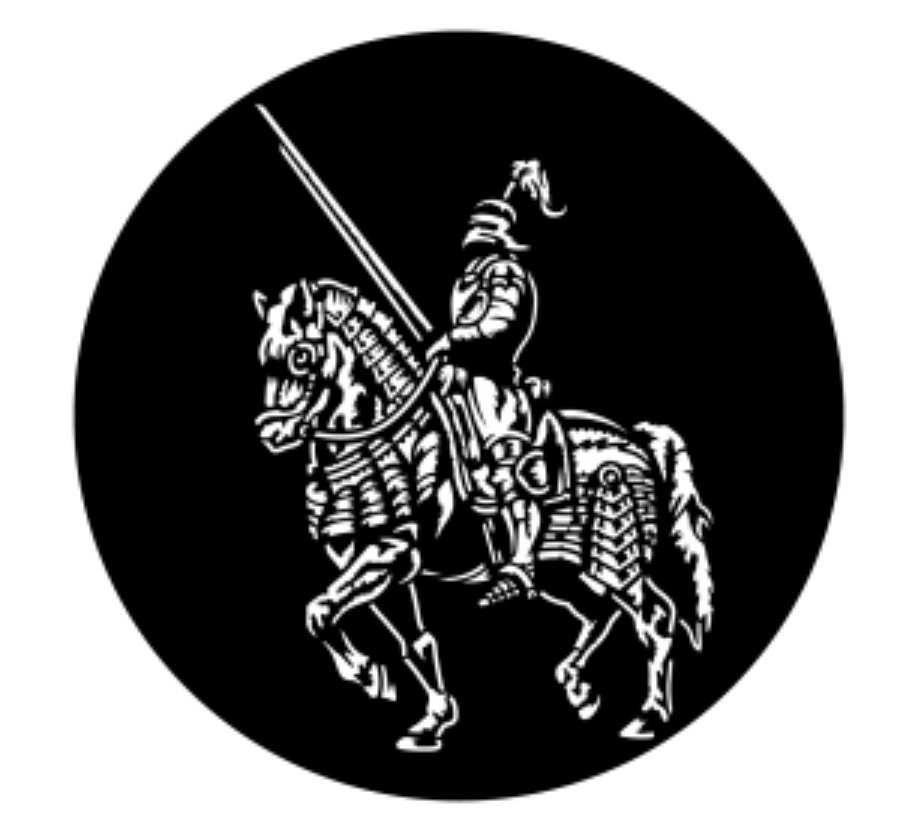 Knight on a Horse Steel Gobo