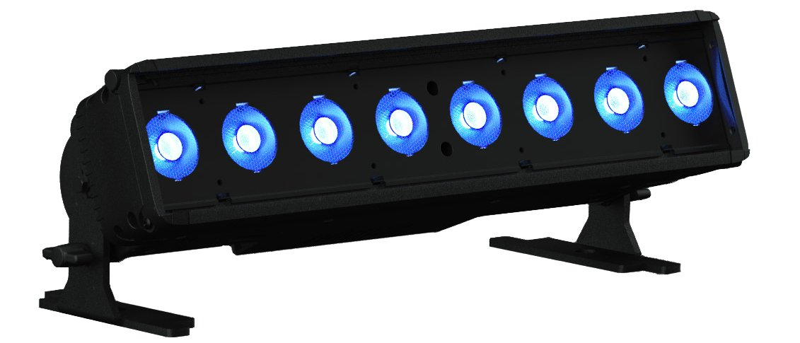 1/2 Meter RGB-L LED Batten Luminaire with Deep Blue Emitters and Bare-End Power Lead