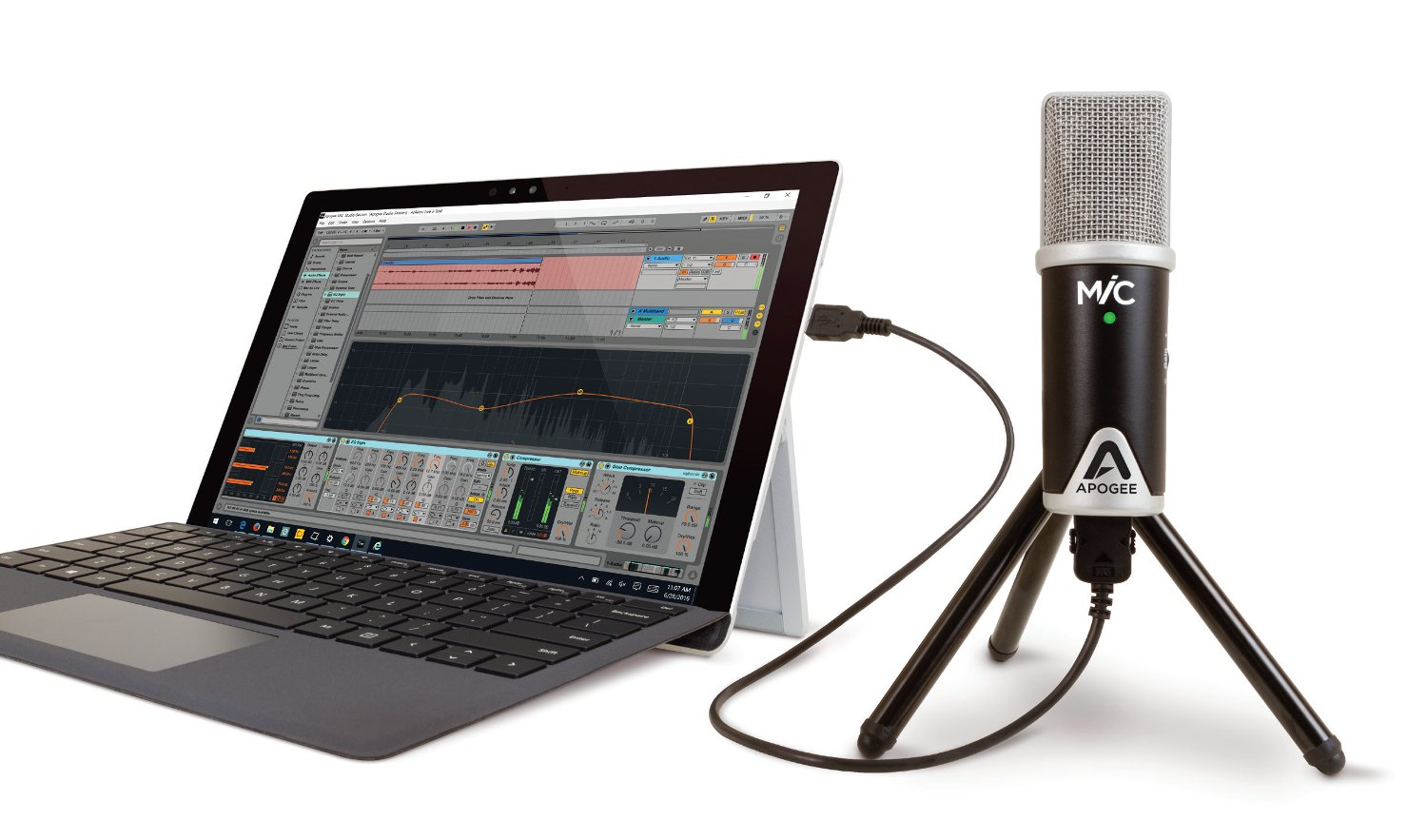 96kHz 24-bit Portable USB Microphone for Mac & Windows
