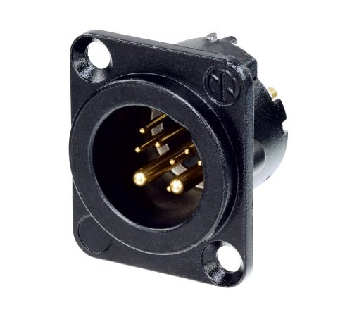 10-Pin D-Size Male XLR Panel Connector