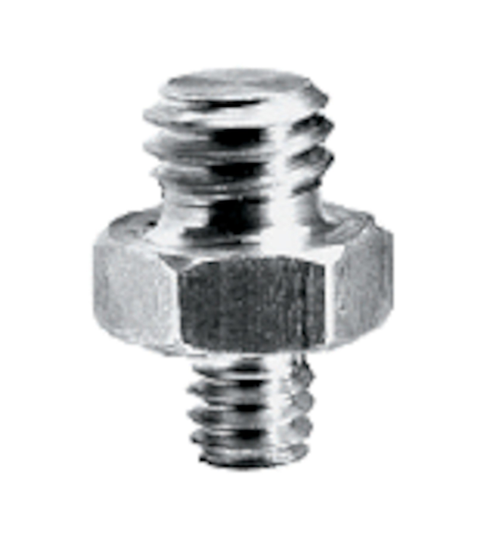 """Short Adapter Spigot with 1/4"""" and 3/8"""" Screws"""