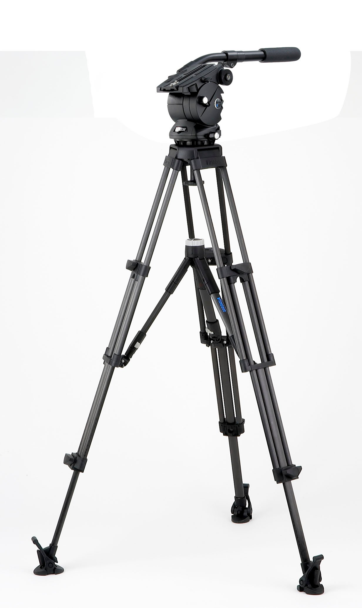with Two-Stage CF Pozi-Loc Tripod, Ground Spreader, and Soft Case