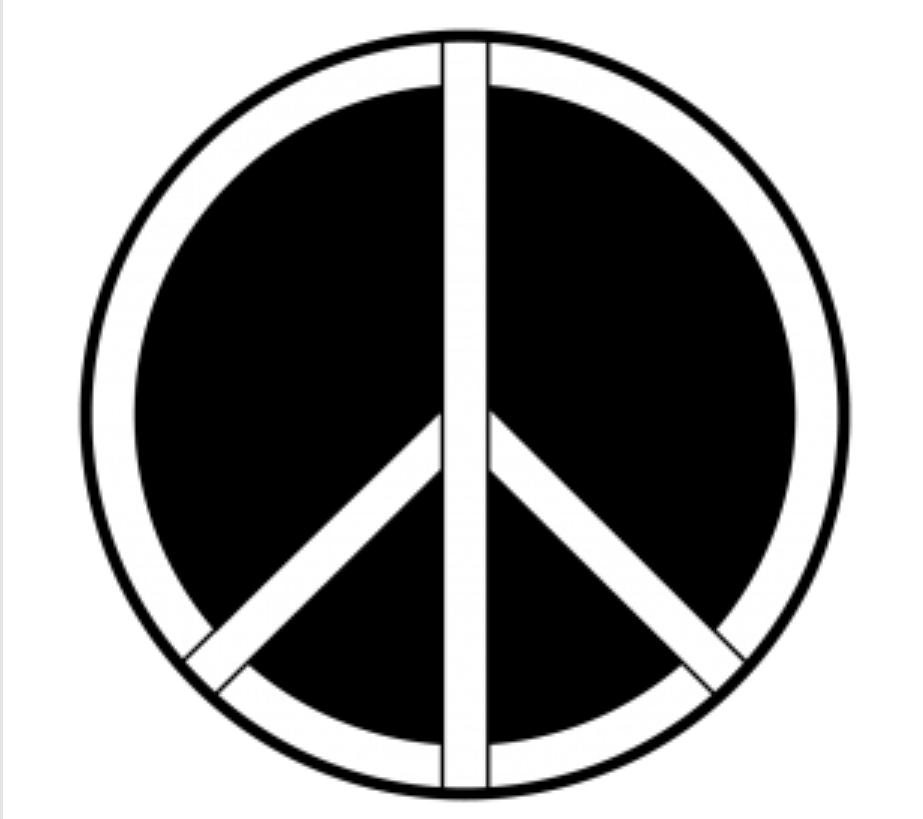 Peace Symbol Steel Gobo