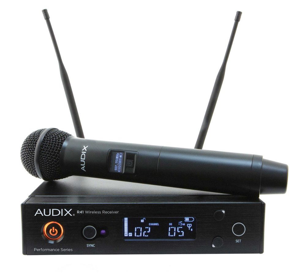 R41 Diversity Receiver with H60/OM5 Handheld Transmitter