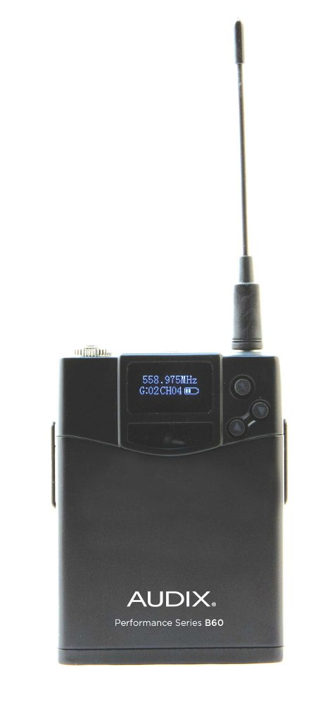 R42 Two Channel Diversity Receiver with Two B60 Bodypack Transmitters, No Microphone