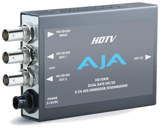 HD/SD 8 Channel AES Embedder/Disembedder with Power Supply