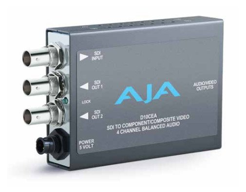 DA Audio/Video Converter, SDI/Embedded Audio to Component or Composite Video and 4 Ch Bal/Unbalanced Audio