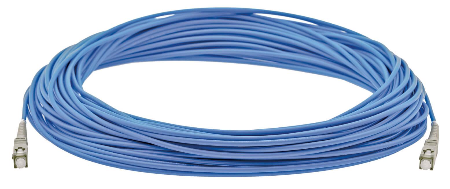 66 ft SC (M) to SC (M) OM4 Multi-Mode Fiber Optic Cable