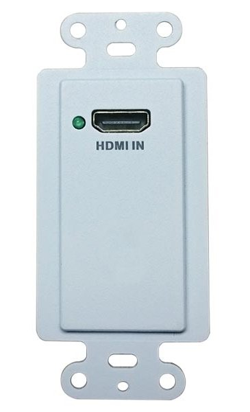 HDMI Single Gang Wallplate HDBT Transmitter with PoH