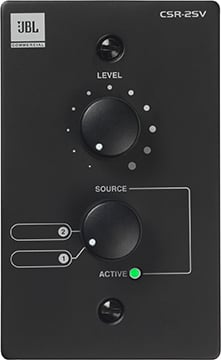Volume/Source Wall Controller, black