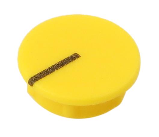 15mm Yellow Knob Cap for ISA220, ISA430, and ISA1