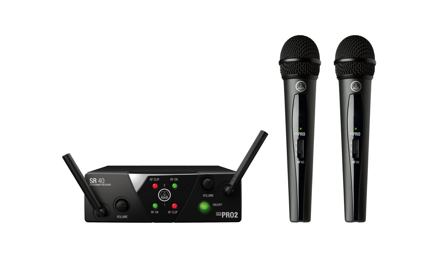 Dual Handheld Wireless Microphone System - AB Band