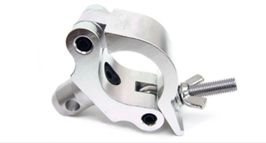 """Heavy Duty 2"""" Aluminum Wrap-Around Coupler Clamp with Half Coupler for 50mm Tubing"""