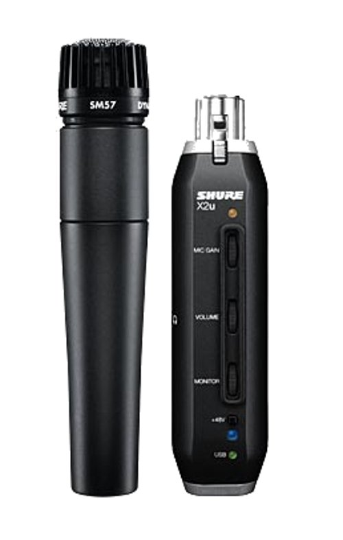 shure sm57x2u sm57 cardioid dynamic instrument mic with x2u usb signal adapter full compass. Black Bedroom Furniture Sets. Home Design Ideas