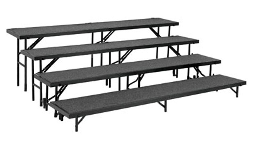 Risers, 4 level, Carpeted, includes: RS8C, RS16C, RS24C, RS32C