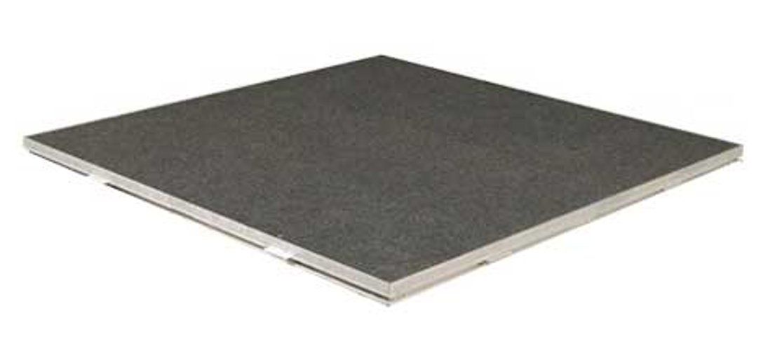 Single 48x48 Drum Platform with Carpet Surface