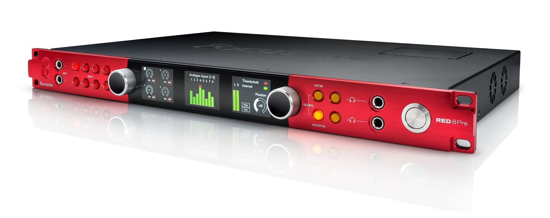 64 In / 64 Out Thunderbolt 2 Audio Interface, Dante Network Audio Connectivity