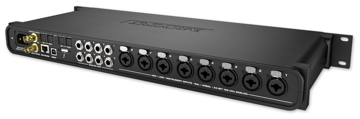 Thunderbolt/USB Audio Interface with 8 Microphone Preamplifiers and AVB Audio Networking