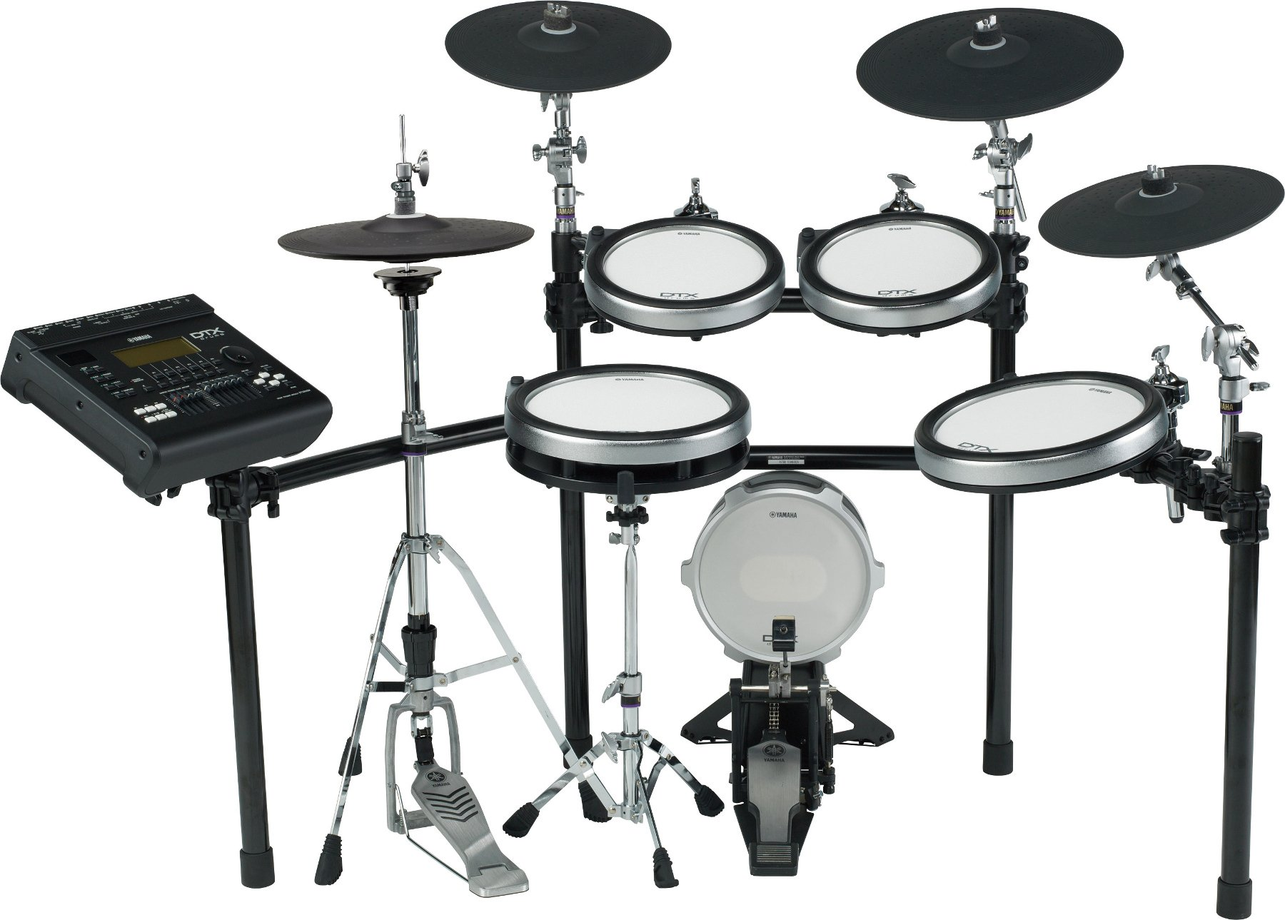 Electronic 9-Piece Drum Kit with Hardware Kit and Sequencer
