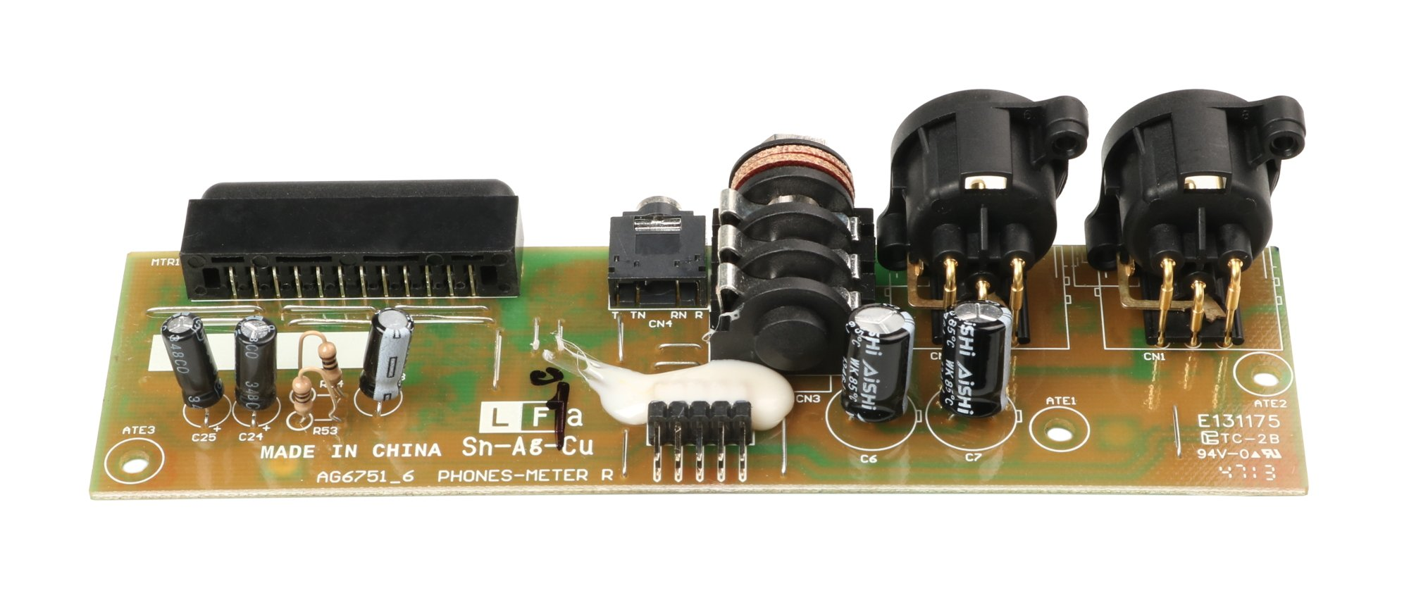 Phone/Meter XLR PCB Assembly for ZED-12FX