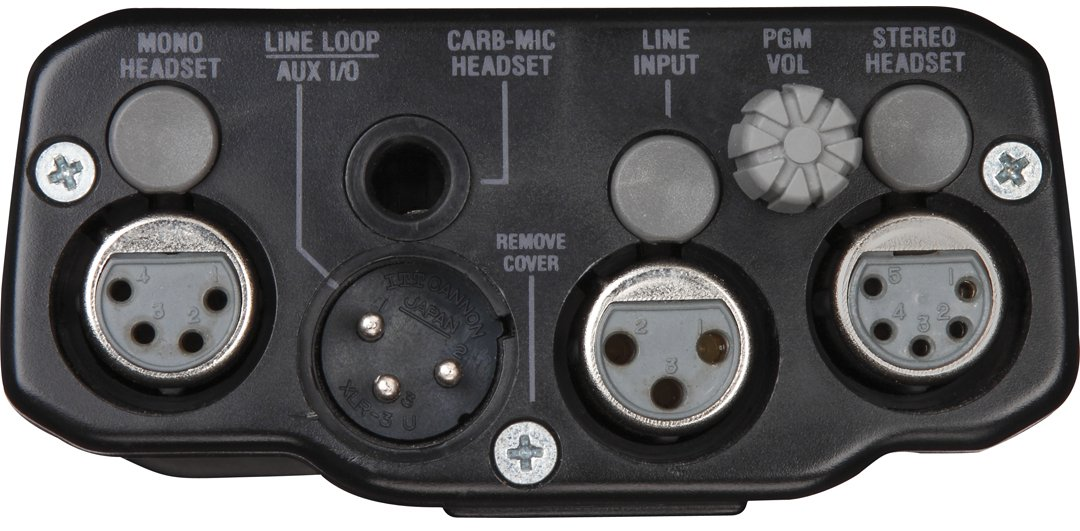 2-Channel Beltpack for Two-Wire Intercom Systems in Gray