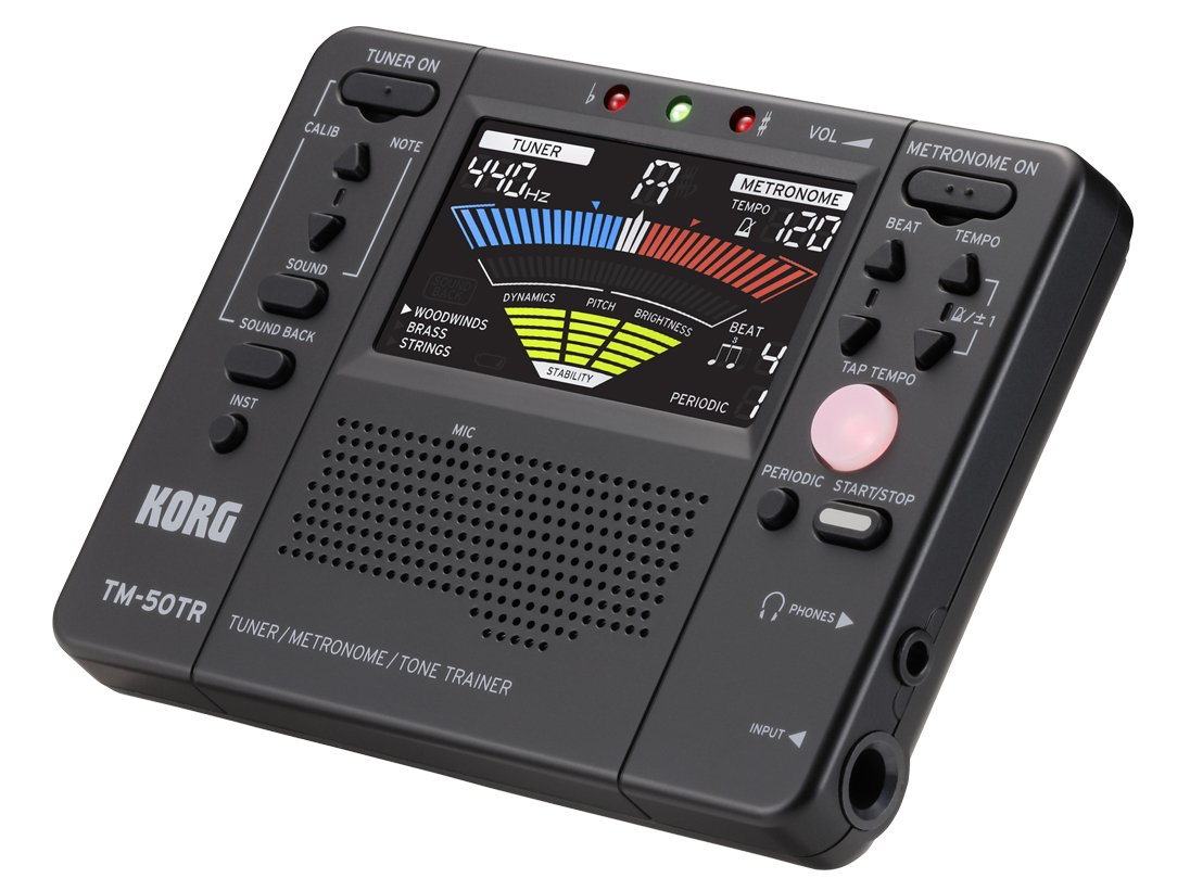 Tuner / Metronome / Tone Trainer, Black