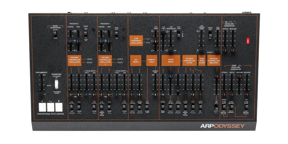 Rev3 Duophonic Synthesizer - Black and Orange