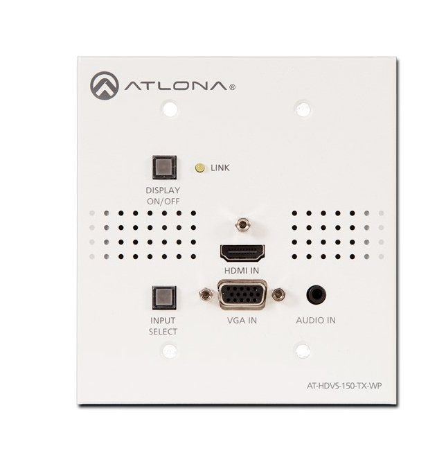 Atlona Technologies AT-HDVS-150-TX-WP Wall Plate Switcher for HDMI and VGA/Audio to HDBaseT AT-HDVS-150-TX-WP