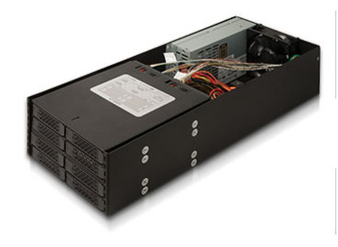 """Mobile Rack Device Mounting Kit with (2) 4x2.5"""" Hot-Swap Drive Cages"""