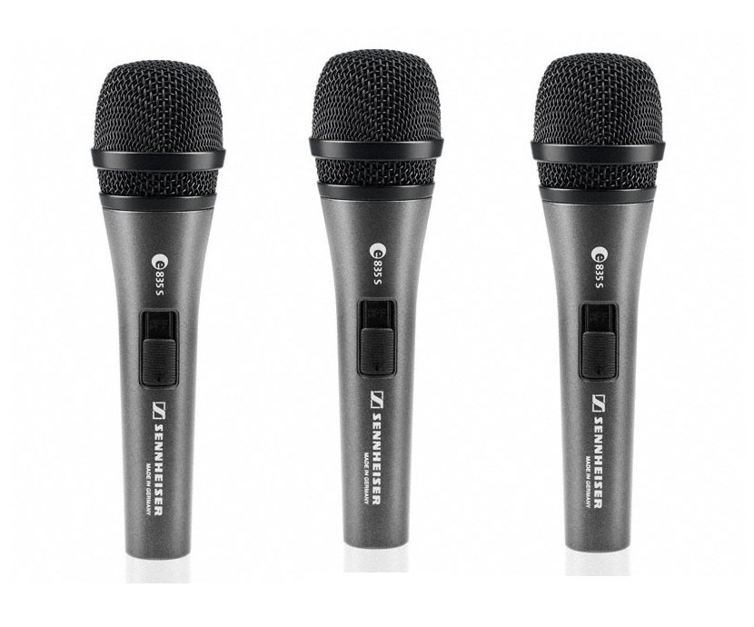 Pack of (3) E835-S Microphones