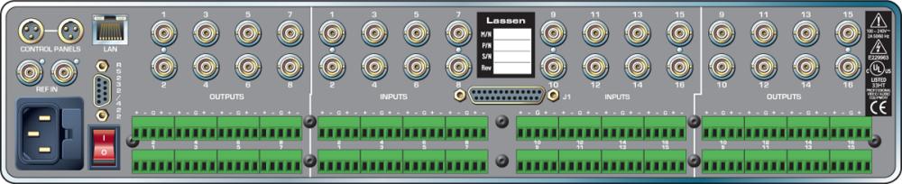 16x16 1.5G HD-SDI Lassen