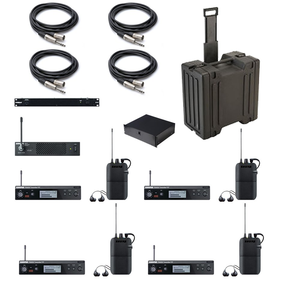 PSM 300 Series Wireless In-Ear Monitor System Bundle with P3TR112GR-G20 Systems and Accessories