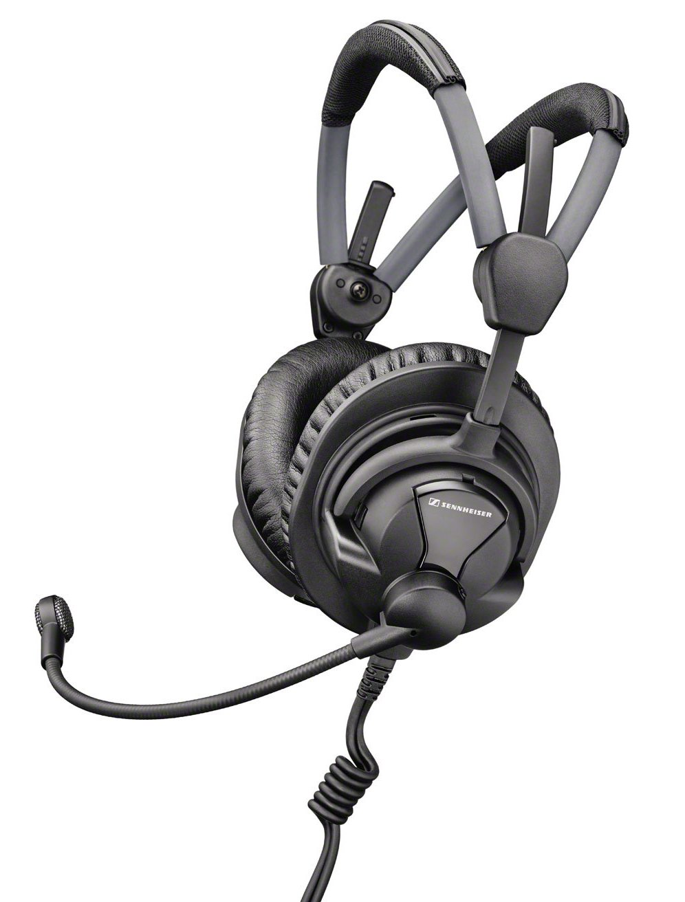 Broadcast Headset with Pre-Polarized Condenser Microphone