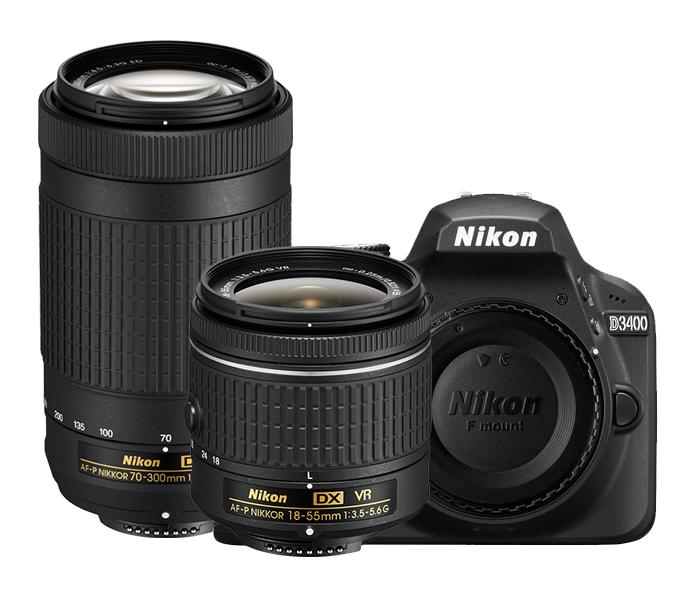 DX-Format 24.2 MP DSLR with 2 NIKKOR Lenses
