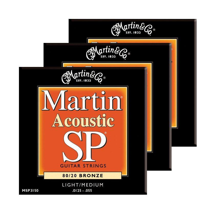 Light/Medium SP 80/20 Acoustic Guitar Strings