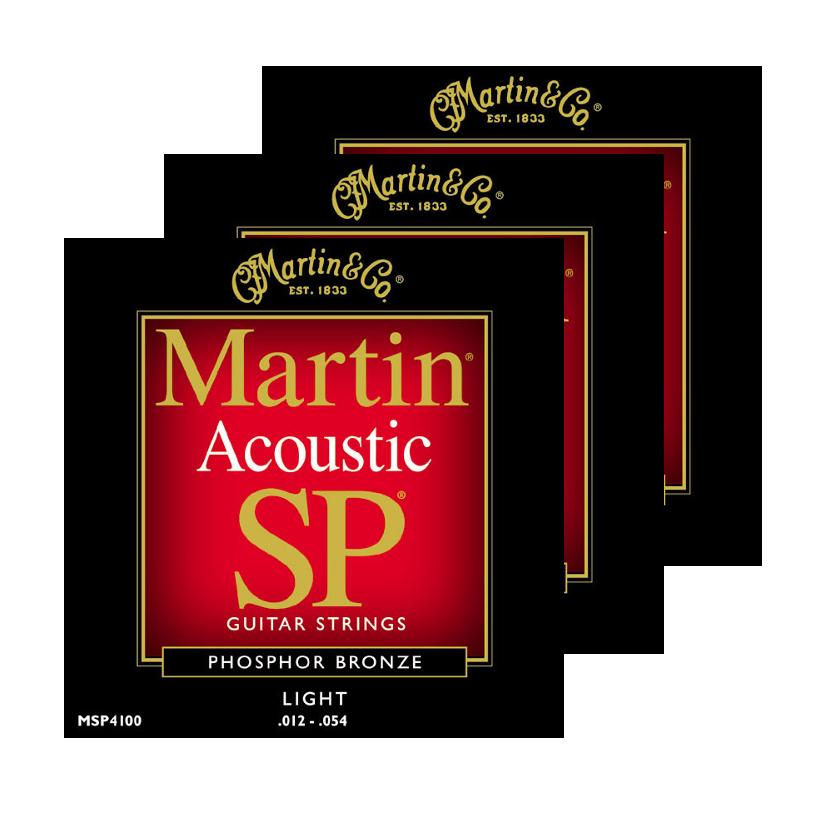 3-Pack of Light Martin SP Phosphor Bronze Acoustic Guitar Strings