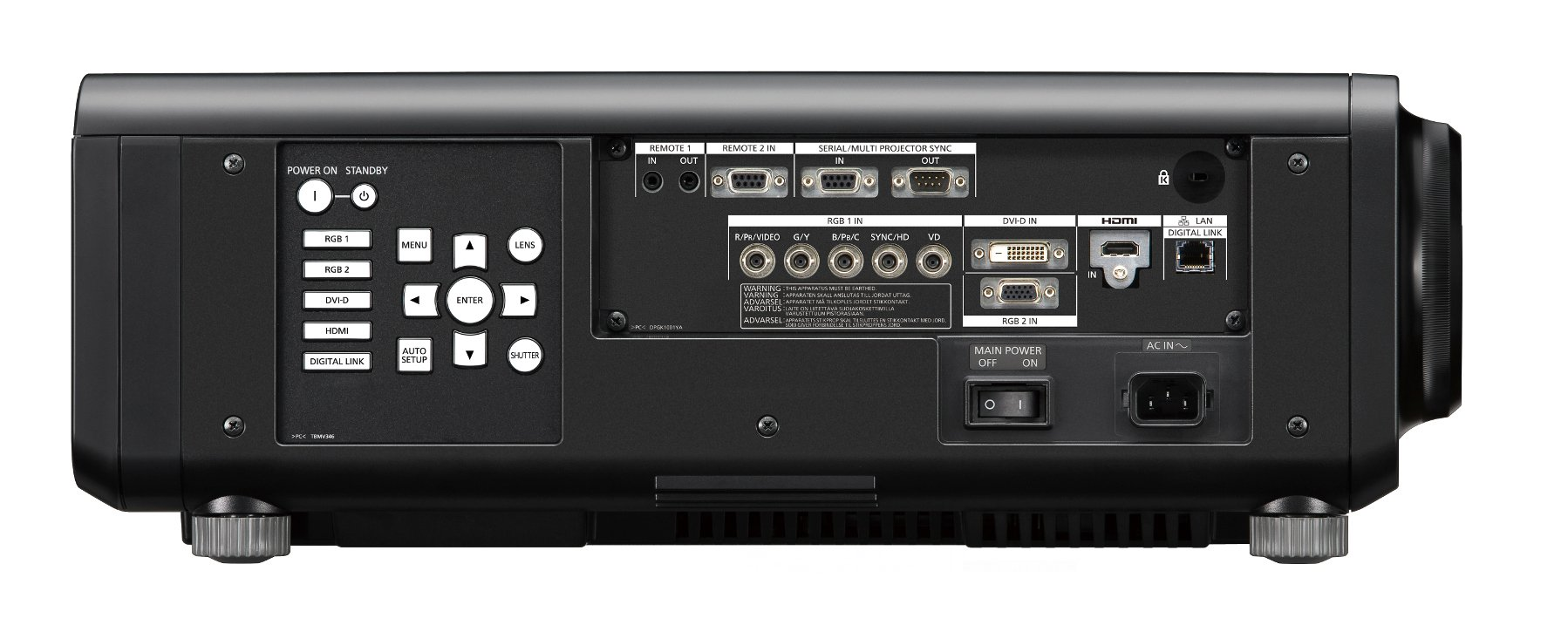 Panasonic PT-RW930LBU 10,000 Lumens WXGA DLP Laser Projector Body Only in Black PTRW930LBU