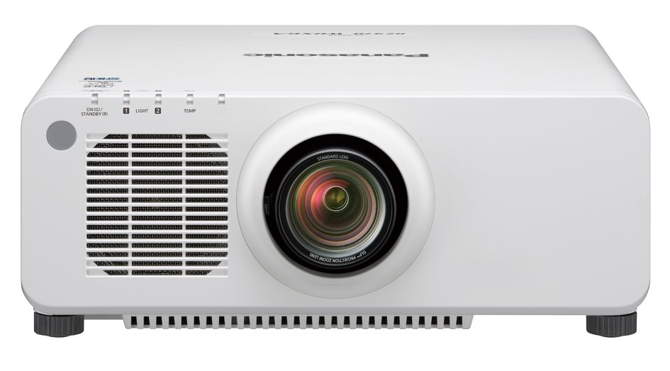 10,000 Lumen Single Chip DLP Laser Projector In White with Lens