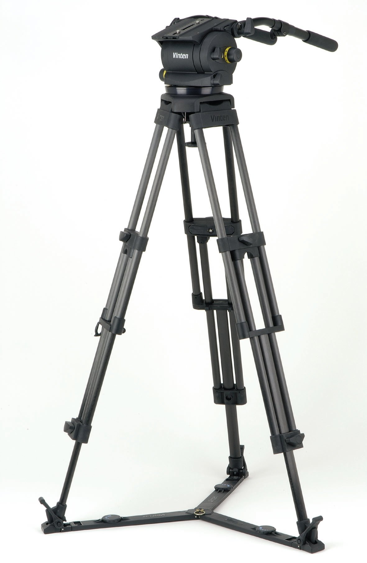 Vision 250 System with 2-Stage Carbon Fibre Pozi-Loc Tripod, 2 Pan Bars, Ground Spreader and Soft Case