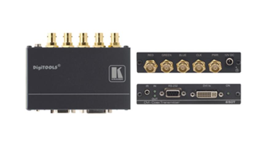 DVI, Bidirectional RS-232 & IR over Coax Transmitter