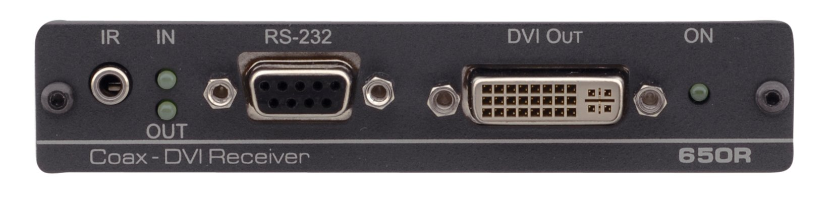 DVI, Bidirectional RS-232 & IR over Coax Receiver