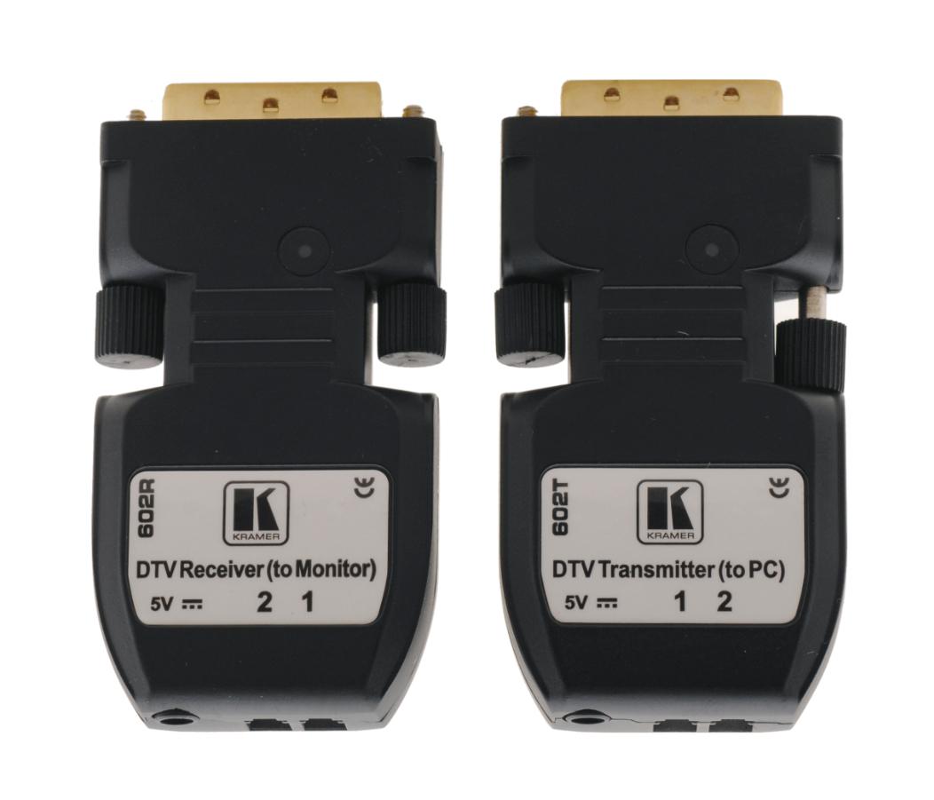 Kramer 602R/T Detachable DVI Optical Transmitter & Receiver 602R/T