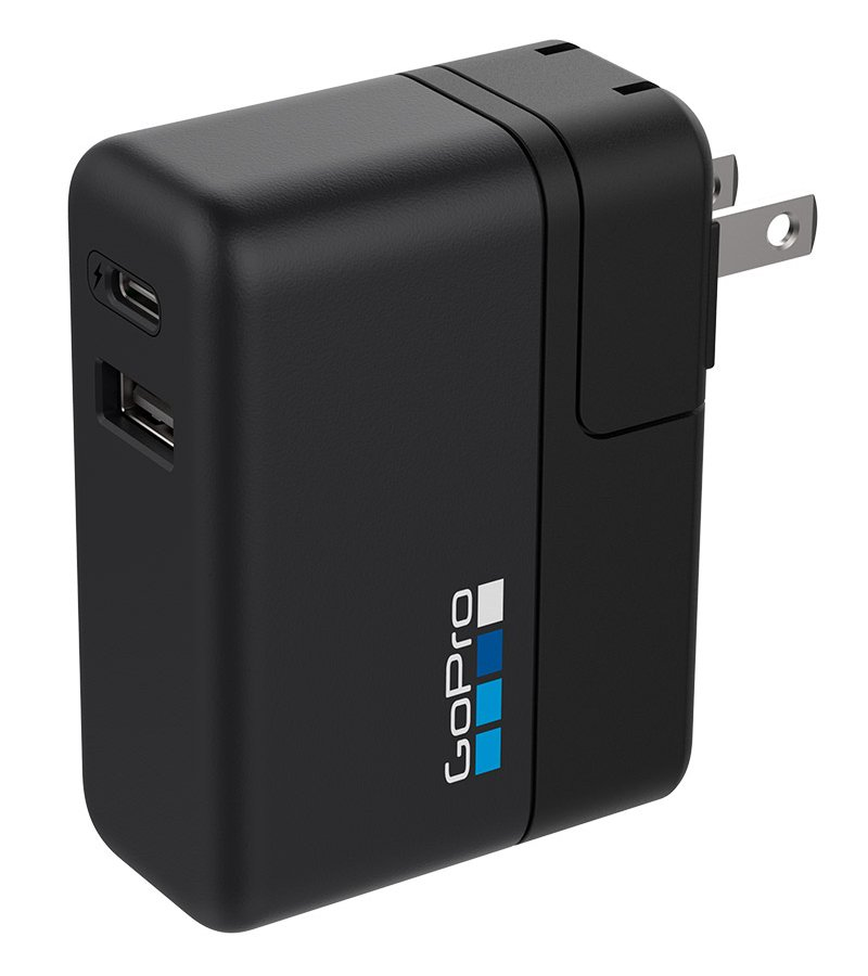 GoPro Inc Supercharger 27.5W International Dual-Port Charger for GoPro Cameras and USB Devices AWALC-002