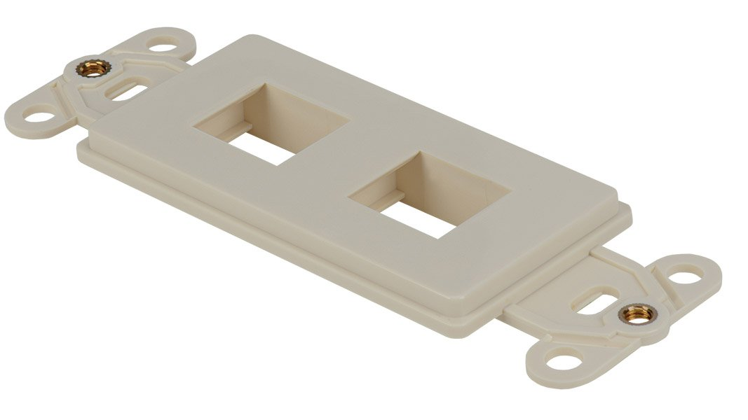 Decorator Style 2-Port Keystone Faceplate Insert, White