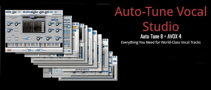 Antares AT-VOCAL-STUDIO-NAT Auto-Tune Vocal Studio Native [DOWNLOAD]  Auto-Tune 8 + AVOX 4 Plugin Bundle | Full Compass