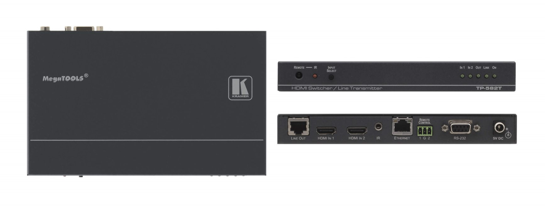 2x1 HDMI Plus Bidirectional RS-232, Ethernet & IR over Twisted Pair Switcher/Transmitter